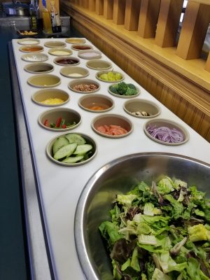Salad Bar at The Lodge at Leathem Smith in Door County Wisconsin