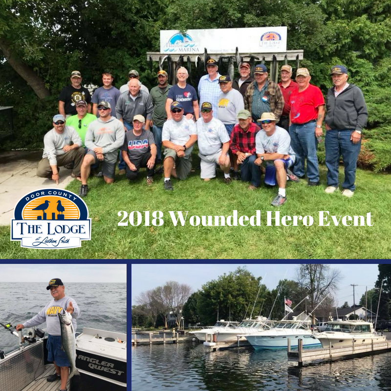 2018 Wounded Hero Event Held at The Lodge at Leathem Smith in Door County